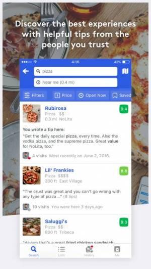 iPhone、iPadアプリ「Foursquare City Guide」のスクリーンショット 4枚目