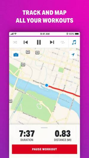 iPhone、iPadアプリ「Map My Walk by Under Armour」のスクリーンショット 1枚目