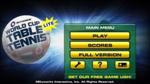 iPhone、iPadアプリ「World Cup Table Tennis™ Lite」のスクリーンショット 1枚目