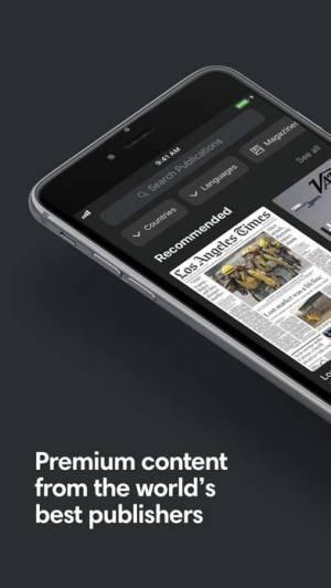 iPhone、iPadアプリ「PressReader」のスクリーンショット 1枚目
