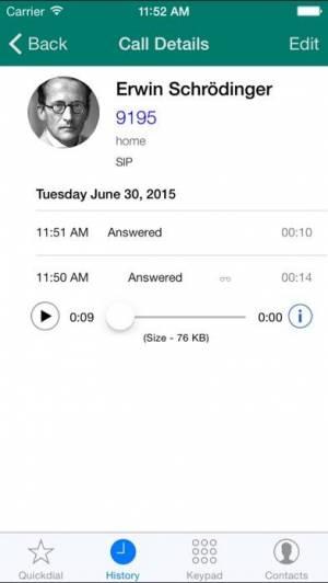 iPhone、iPadアプリ「Acrobits Softphone」のスクリーンショット 1枚目