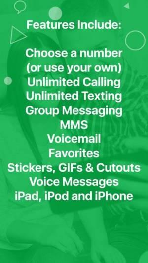 iPhone、iPadアプリ「textPlus: Unlimited Text+Calls」のスクリーンショット 5枚目