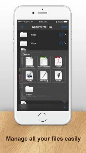 iPhone、iPadアプリ「Documents Pro - Files Editor」のスクリーンショット 1枚目