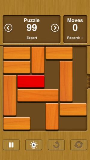 iPhone、iPadアプリ「Unblock Me」のスクリーンショット 1枚目