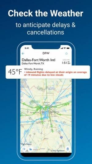 iPhone、iPadアプリ「FlightAware Flight Tracker」のスクリーンショット 4枚目