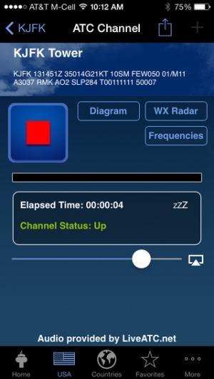 iPhone、iPadアプリ「LiveATC Air Radio」のスクリーンショット 3枚目