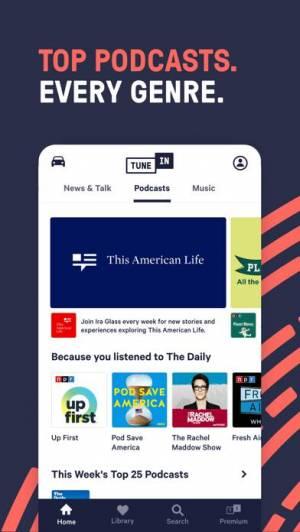iPhone、iPadアプリ「TuneIn Radio Pro」のスクリーンショット 3枚目