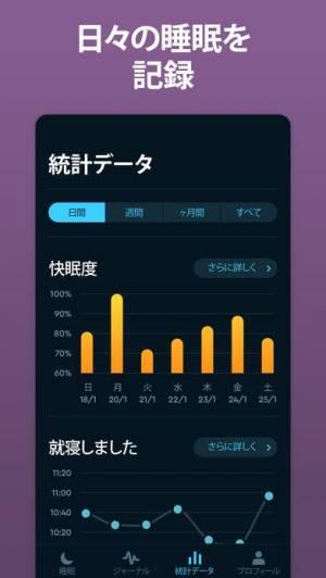 iPhone、iPadアプリ「Sleep Cycle: スマートアラーム目覚まし時計」のスクリーンショット 5枚目