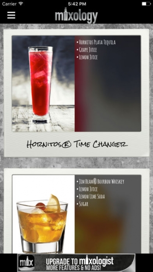 iPhone、iPadアプリ「Mixology™ Drink & Cocktail Recipes (Free)」のスクリーンショット 1枚目