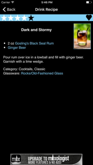 iPhone、iPadアプリ「Mixology™ Drink & Cocktail Recipes (Free)」のスクリーンショット 3枚目
