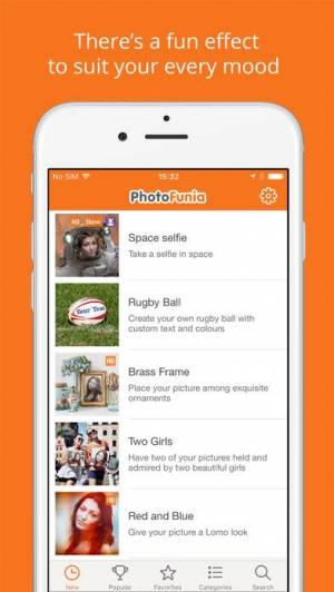 iPhone、iPadアプリ「PhotoFunia」のスクリーンショット 1枚目