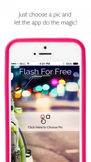 iPhone、iPadアプリ「Flash for Free – Best Photo Editor with Flash & Awesome FX Effects」のスクリーンショット 2枚目