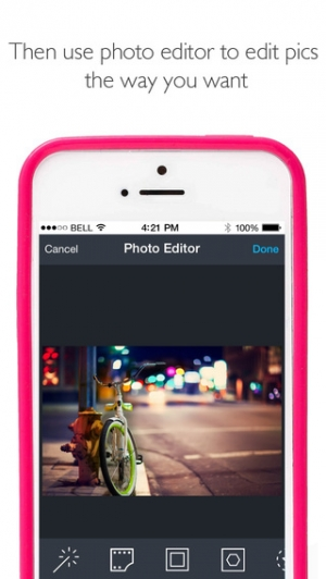 iPhone、iPadアプリ「Flash for Free – Best Photo Editor with Flash & Awesome FX Effects」のスクリーンショット 4枚目