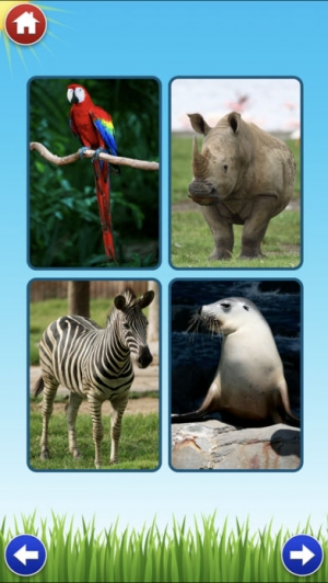 iPhone、iPadアプリ「Zoo Sounds Lite - A Fun Animal Sound Game for Kids」のスクリーンショット 2枚目