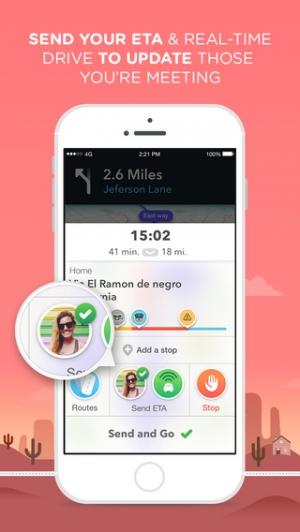 iPhone、iPadアプリ「Waze - ソーシャル渋滞ナビ、GPS、地図」のスクリーンショット 5枚目