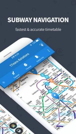 iPhone、iPadアプリ「Subway Korea - 韓国地下鉄路線図」のスクリーンショット 2枚目