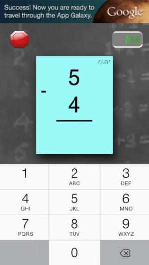 iPhone、iPadアプリ「FlashToPass 無料の数学フラッシュカード」のスクリーンショット 3枚目