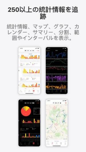 iPhone、iPadアプリ「Cyclemeter GPSサイクリング、自転車、ランニング」のスクリーンショット 2枚目