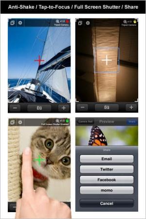 iPhone、iPadアプリ「トライポッドカメラ (+ライト&ズーム)」のスクリーンショット 5枚目
