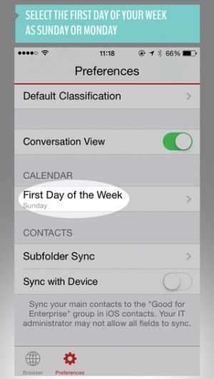iPhone、iPadアプリ「Good for Enterprise」のスクリーンショット 3枚目