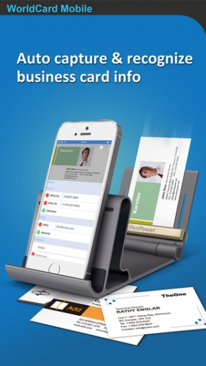 iPhone、iPadアプリ「WorldCard Mobile - business card reader & business card scanner」のスクリーンショット 1枚目
