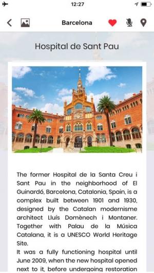 iPhone、iPadアプリ「バルセロナ 旅行 ガイド &マップ」のスクリーンショット 2枚目