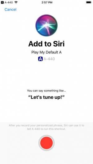 iPhone、iPadアプリ「A-440 Tuning Fork」のスクリーンショット 2枚目