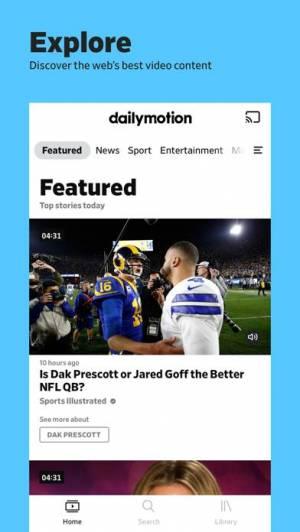 iPhone、iPadアプリ「dailymotion」のスクリーンショット 1枚目