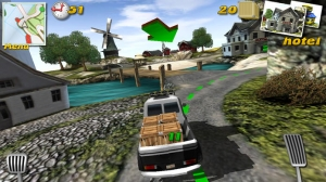 iPhone、iPadアプリ「Parcel Panic - Post Car Racer 3D」のスクリーンショット 3枚目