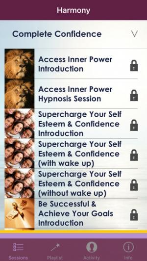 iPhone、iPadアプリ「Harmony –  Hypnosis Meditation」のスクリーンショット 4枚目