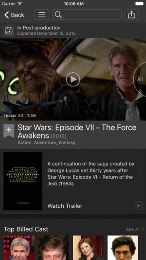 iPhone、iPadアプリ「IMDb Movies & TV」のスクリーンショット 4枚目