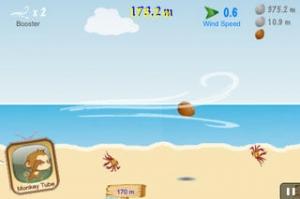 iPhone、iPadアプリ「Air CocoMon LITE:モンキーココナッツの自由飛行 (Free Flight of the Monkey Coconut)」のスクリーンショット 4枚目