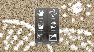 iPhone、iPadアプリ「iSand - Sand Particle Painting」のスクリーンショット 2枚目