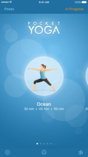 iPhone、iPadアプリ「Pocket Yoga」のスクリーンショット 1枚目