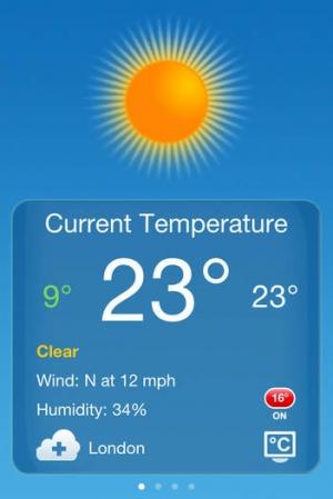iPhone、iPadアプリ「天気」のスクリーンショット 5枚目