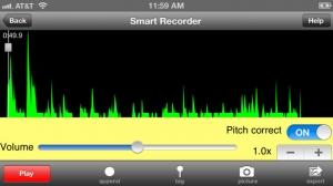 iPhone、iPadアプリ「Smart Recorder Lite - 無料音楽とボイスレコーダー」のスクリーンショット 2枚目