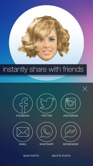 iPhone、iPadアプリ「Hair MakeOver - new hairstyle and haircut in a minute」のスクリーンショット 5枚目