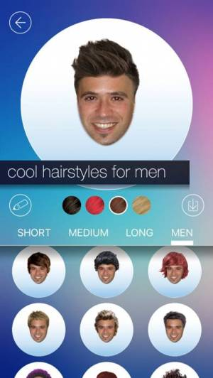 iPhone、iPadアプリ「Hair MakeOver - new hairstyle and haircut in a minute」のスクリーンショット 3枚目