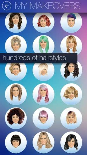 iPhone、iPadアプリ「Hair MakeOver - new hairstyle and haircut in a minute」のスクリーンショット 2枚目