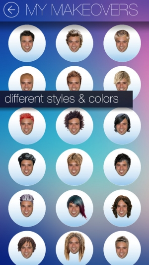 iPhone、iPadアプリ「Hair MakeOver - new hairstyle and haircut in a minute」のスクリーンショット 4枚目