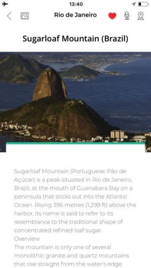 iPhone、iPadアプリ「リオデジャネイロ 旅行 ガイド &マップ」のスクリーンショット 3枚目