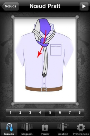 iPhone、iPadアプリ「Knot Tie」のスクリーンショット 2枚目