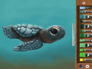 iPhone、iPadアプリ「お絵描きパッド」のスクリーンショット 3枚目