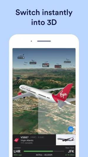 iPhone、iPadアプリ「Plane Finder ⁃ Flight Tracker」のスクリーンショット 3枚目