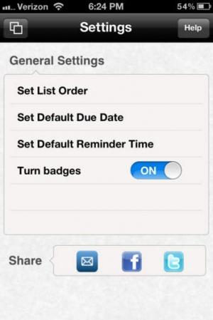 iPhone、iPadアプリ「Minimalist To Do List」のスクリーンショット 5枚目
