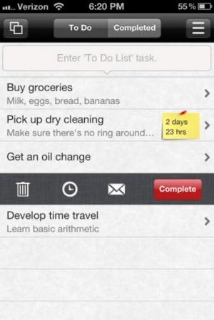 iPhone、iPadアプリ「Minimalist To Do List」のスクリーンショット 1枚目