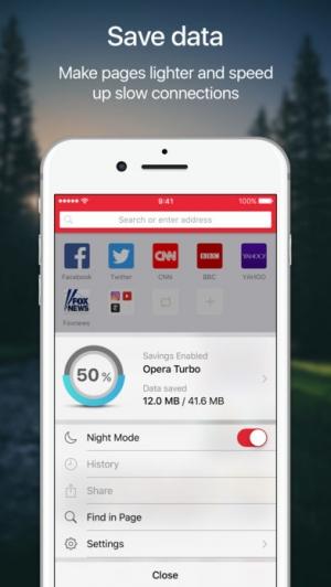 iPhone、iPadアプリ「Opera Mini web browser」のスクリーンショット 3枚目