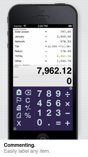 iPhone、iPadアプリ「Digits Calculator for iPad + iPhone」のスクリーンショット 4枚目