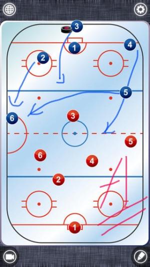 iPhone、iPadアプリ「IceHockey Board Free (アイスホッケー)」のスクリーンショット 1枚目