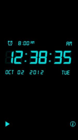 iPhone、iPadアプリ「アラームの音楽時計」のスクリーンショット 2枚目